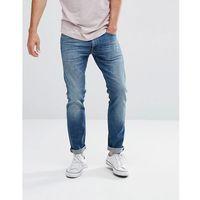 luke skinny fit jean mid wash blue - blue marki Lee