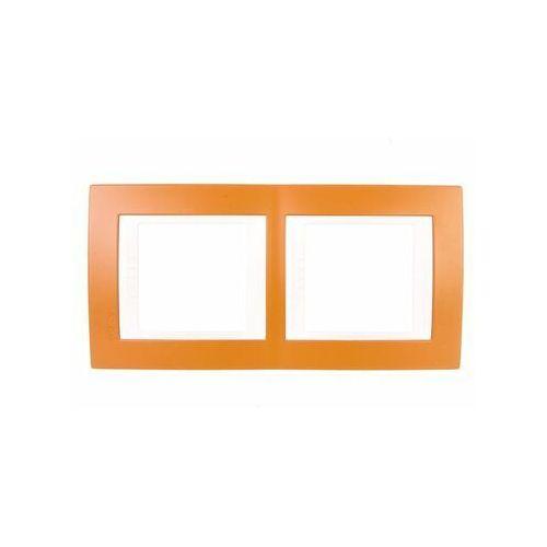 Schneider Unica Plus Ramka 2-krotna pionowa ugier pomarańcz. MGU6.004V.869 (8420375132489)