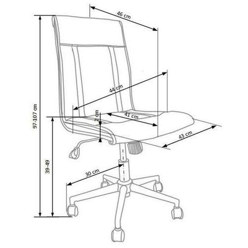 Style furniture Fotel pracowniczy bern czarny