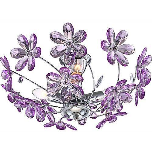 Plafon oprawa lampa sufitowa Globo Purple 3x40W E14 fioletowy, chrom 5142