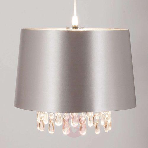 Srebrna lampa wisząca Peardrop akrylowe krople