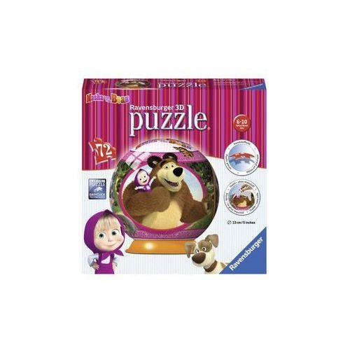 Puzzle 3D Masza i Niedźwiedź Kuliste 72 - Ravensburger, 5_510104