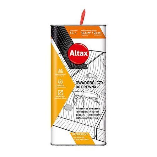 Preparat owadobójczy do drewna Altax bezbarwny 5 l (5900172954802)
