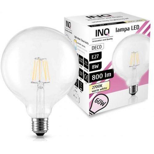 Żarówka LED E27 8W G125 2700K INQ Lighting Edison LG04WW