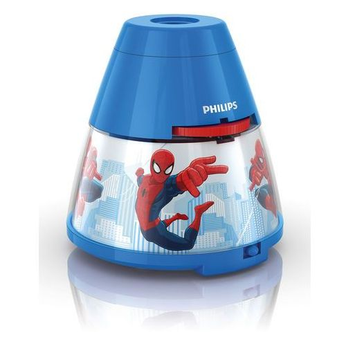 Disney - lampka nocna projektor led niebieski spiderman wys.11,8cm marki Philips