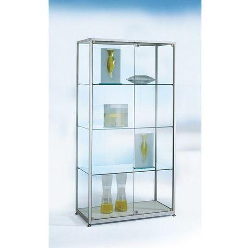 Witryna stojąca, wys. 2000 mm, 2 drzwi obrotowych, szer. x głęb. 1000x400 mm, wy