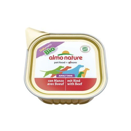 Almo nature daily menu bio dog wołowina - szalka 32x100g