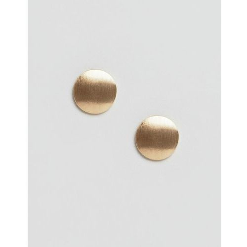 Pieces flat stud earrings - Gold