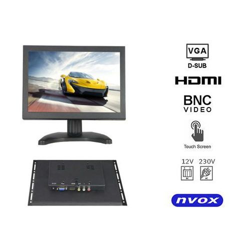 "NVOX OP801VHT Monitor dotykowy open frame LCD 8"" cali LED VGA HDMI AV BNC 12V 230V"