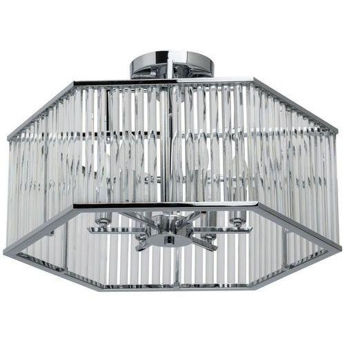 Lampa sufitowa geometryczna chrom i kryształ crystal (642010506) marki Mw-light
