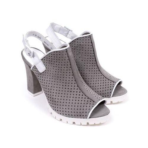Sandały damskie  B3377-399 samuel 1137/nappa biała 40 szary, Carinii