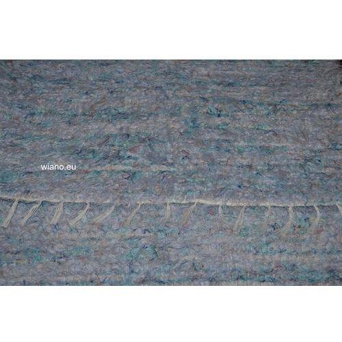 Spółdzielnia twórców ludowych Chodnik lniany, ręcznie tkany, jasno niebieski, 70x120