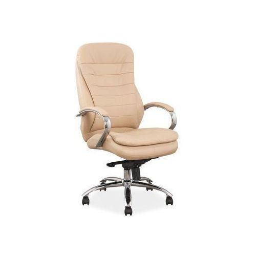Fotel obrotowy, krzesło biurowe q-154 beige marki Signal