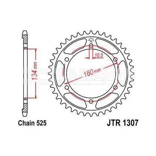 Zębatka tylna stalowa JT 1307-42, 42Z, rozmiar 525 2301878 Honda CBR 600