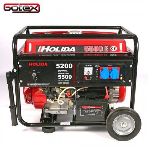 Agregat prądotwórczy, generator 5500e jedna faza 5,5 kw rozrusznik elektryczny marki Holida