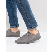 specner microfibre trainers in grey - grey, Fred perry