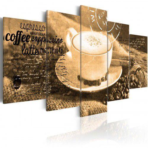 Artgeist Obraz - coffe, espresso, cappuccino, latte machiato... - sepia