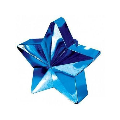 Amscan Obciążnik ciężarek do balonów napełnionych helem - gwiazda niebieska - 170 g. (0048419246794)