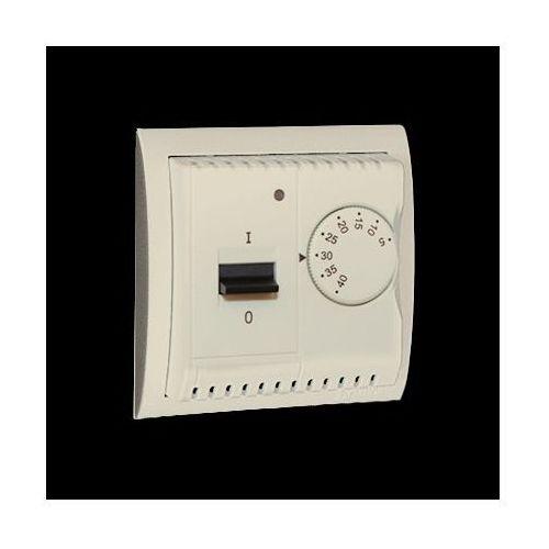 Regulator temperatury z czujnikiem wewnętrznym, 16A, 230V~. Montaż na wkręty; beż