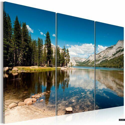 SELSEY Obraz - Góry, drzewa i krystalicznie czyste jezioro 120x80 cm