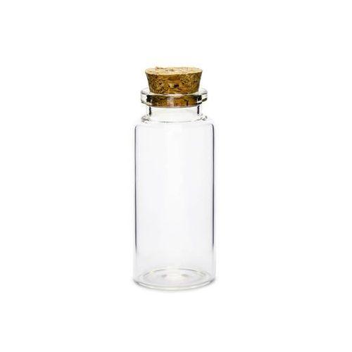 Party deco Szklane buteleczki dla gości z korkiem - 7,5 cm - 12 szt.