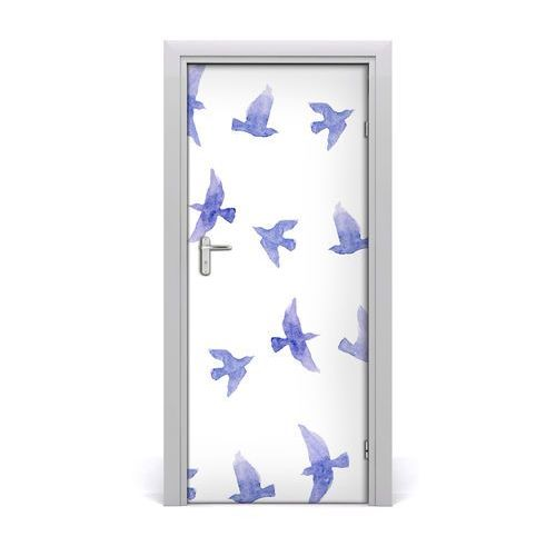 Naklejka samoprzylepna na drzwi Niebieskie jaskółki