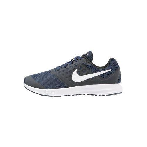 Nike Performance DOWNSHIFTER 7 Obuwie do biegania treningowe navy/white/dark obsidian/black, kolor niebieski