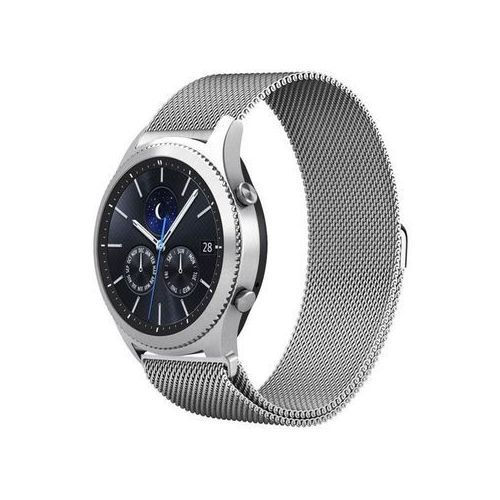 Bransoleta Milanese pasek stalowy do Samsung Gear S3 srebrny - Srebrny, kolor szary