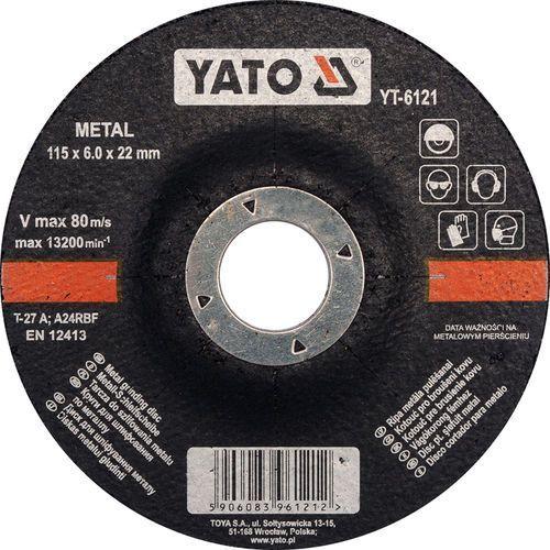 Tarcza do szlifowania metalu 115x6,0x22 mm yt-6121 - zyskaj rabat 30 zł marki Yato