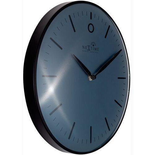 Zegar ścienny sterowany radiowo, czarny glamour nextime 30 cm (3256 zwrc), kolor czarny