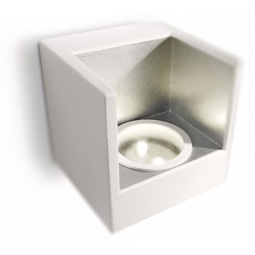 LEDINO - Kinkiet Pojedynczy LED Biały & Srebrny (8717943744800)