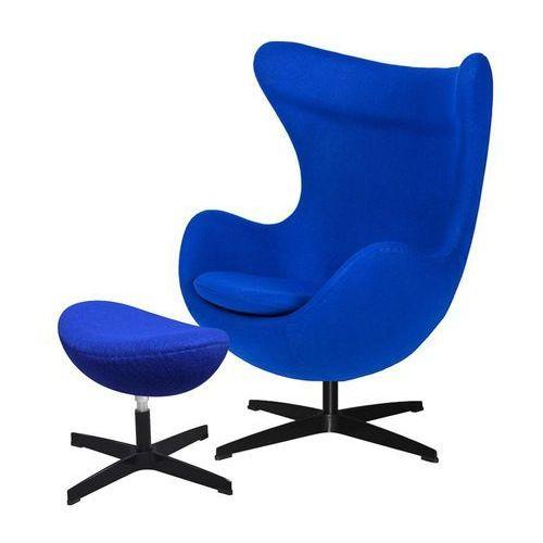Fotel EGG CLASSIC BLACK z podnóżkiem - atramentowy niebieski.29, podstawa czarna, JH-026.JH-027.29B (8056848)
