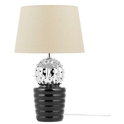 Lampa stołowa srebrna/czarna 43 cm VELISE (4260624111438)