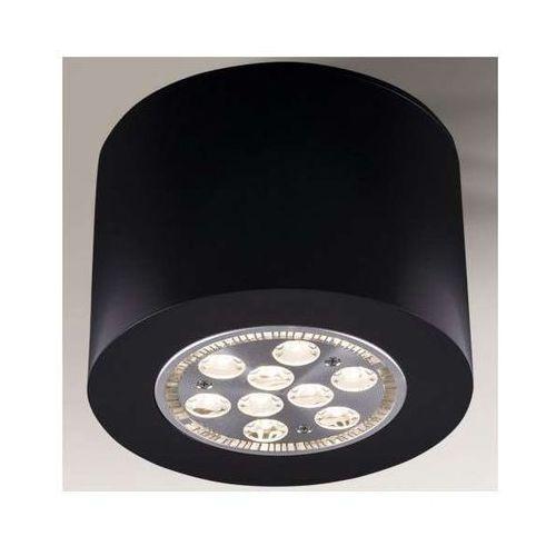 Sufitowa lampa plafon tamba 1139/g53/cz  metalowa oprawa natynkowa czarna marki Shilo