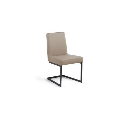 Krzesło do jadalni café latte czarna rama ARCTIC