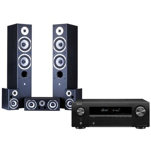 Kino domowe DENON AVR-X250BT + WILSON Movix Czarny (2900927144888)