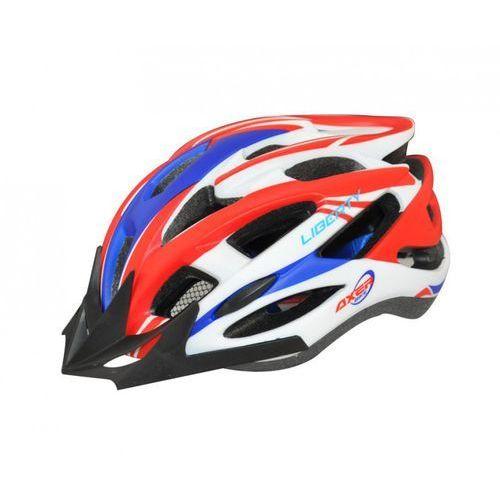 Kask rowerowy liberty czerwono-niebieski (rozmiar l) + zamów z dostawą jutro! + darmowy transport! marki Axer bike