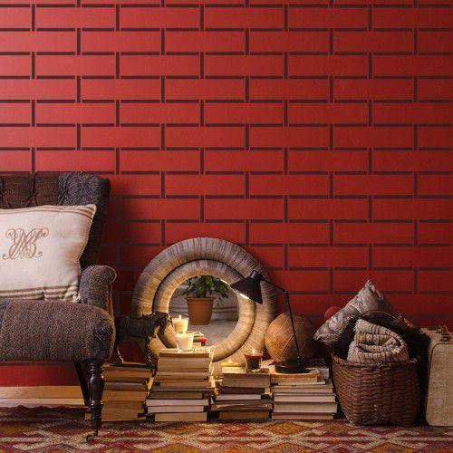 Szablon malarski wielokrotny powtarzalny // brick wall #2 marki Nakleo