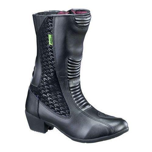Damskie skórzane buty motocyklowe kurkisa nf-6090, czarny, 41 marki W-tec