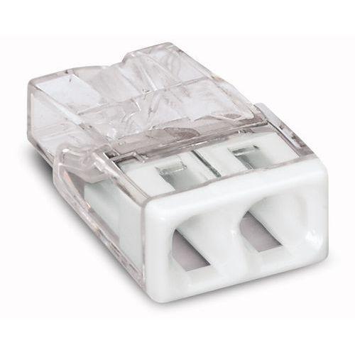 Złączka instalacyjna 2x Compact biała 2273-202 Wago (4050821027843)
