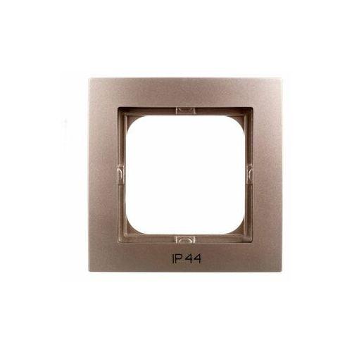 Ospel Ramka pojedyncza as rh-1g/45 do łączników ip44 satynowa light (5907577475482)