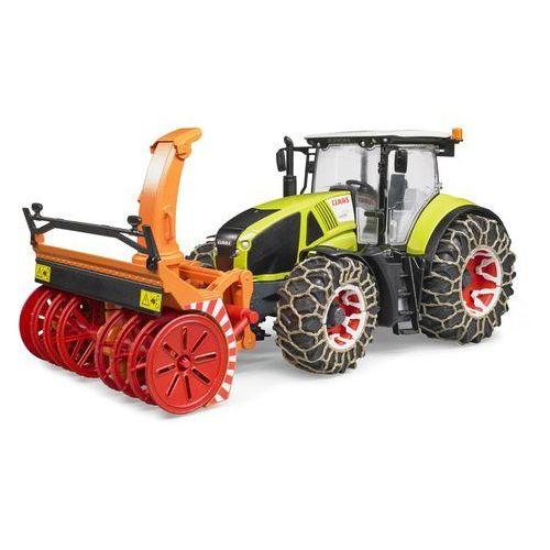 Traktor claas axion 950 z plugiem snieznym