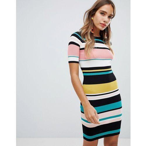 New Look Multi Stripe Dress - Multi
