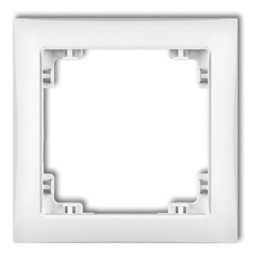 Deco ramka uniwersalna pojedyncza z tworzywa deco soft biały drso-1 marki Karlik elektrotechnik sp. z o.o.