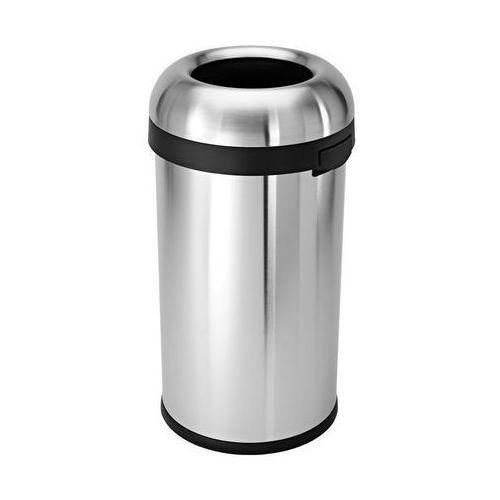 Simplehuman - Kosz na śmieci 60L BULLET OPEN - stal