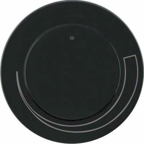 r.1/r.3 płytka czołowa z pokrętłem do regulatora obrotów, czarny, połysk 11372035 marki Berker