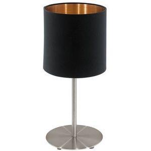 Stojąca LAMPKA stołowa PASTERI 94917 Eglo abażurowa LAMPKA biurkowa okrągła czarna, 94917