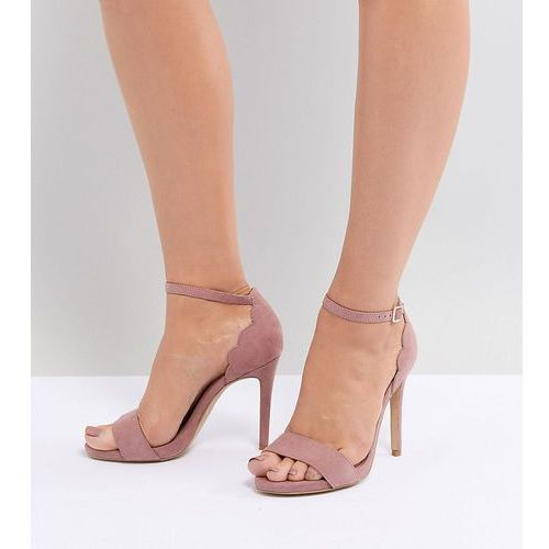 New Look Wide Fit Scallop Back High Heeled Sandal - Pink