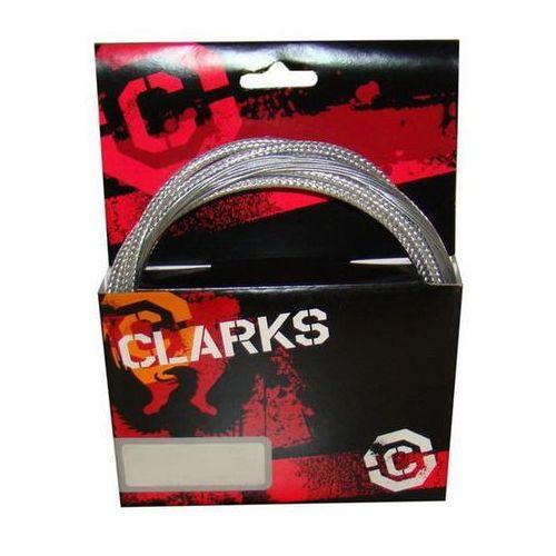 Zestaw hamulcowy CLARK'S PRE LUBE CARBON Mtb pancerz srebrny karbon