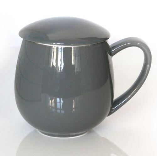 Cup&you cup and you Kubek z zaparzaczem i pokrywką szary – idealny zestaw do przygotowania herbaty, perfekcyjny podarunek prezent dla mamy, taty, babci, dziadka